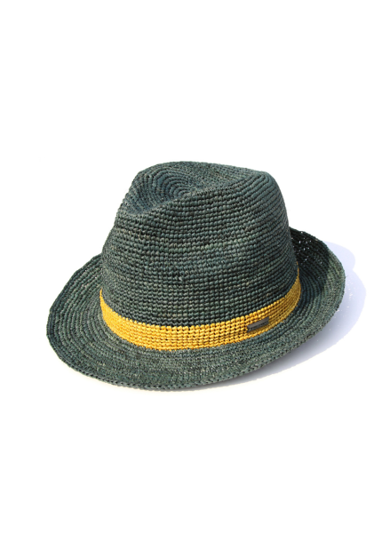 [WHITE SANDS/신상20%SALE] RAFFIA CANNES HAT GREEN WS17-017GR