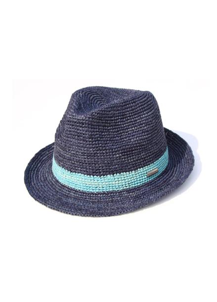 [WHITE SANDS/전상품15%+5%] RAFFIA CANNES HAT BLUE WS17-017BL
