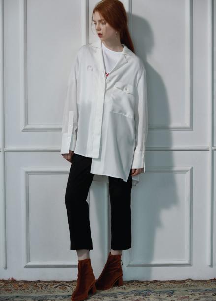 unbalance  shirt white