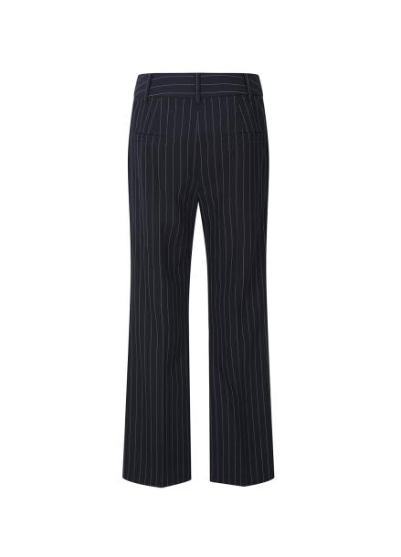 ◆ Pin Stripe Semi Wide Slacks