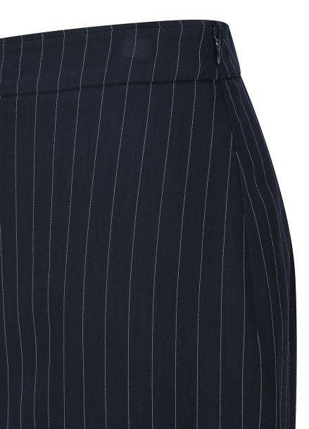 ◆ Pin Stripe Front Slit Pencil Skirt
