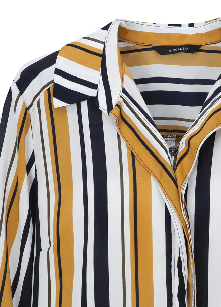 Multi Stripe Pattern Blouse