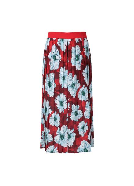 Flower Print Pleats Pants