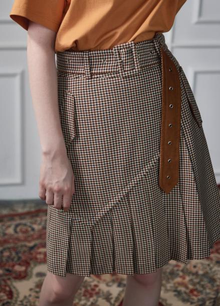 [CLUE DE CLARE/9월28일예약배송]trench skirt beige