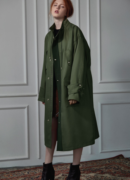 [CLUE DE CLARE]long field coat Khaki