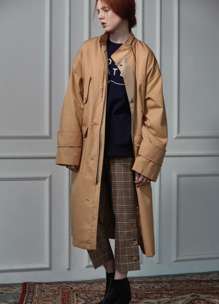 [CLUE DE CLARE]long field coat Beige