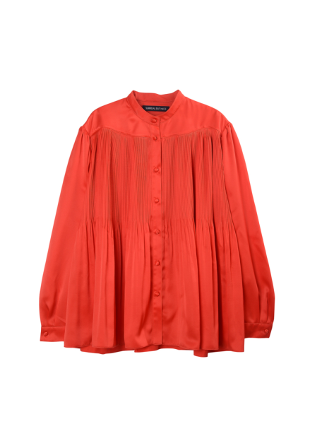 [SURREAL BUT NICE/시즌오프!/50%] PLEATS SHIRTS RED
