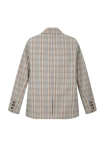 Brown Check Patterned Jacket [정은지 착용]