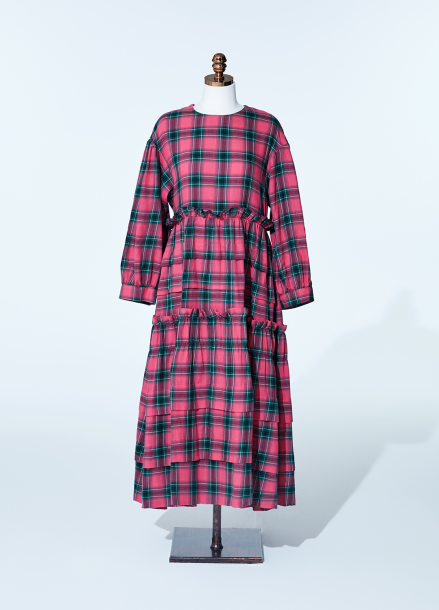 [NEW/AMELIE] kang kang dress_pink_tartan check
