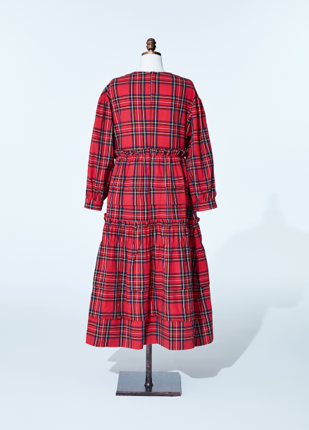 [NEW/AMELIE] kang kang dress_red_tartan check