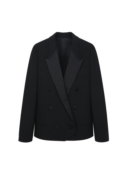 Silk Collar Short Jacket