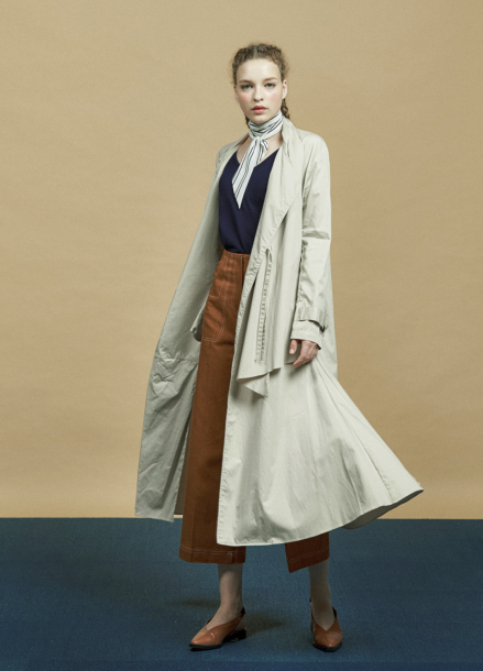 [URAGO]Chicago long Trench coat