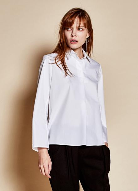 [TheKstory]Three button blouse_white
