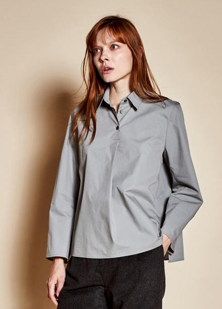 [TheKstory]Three button blouse_blue