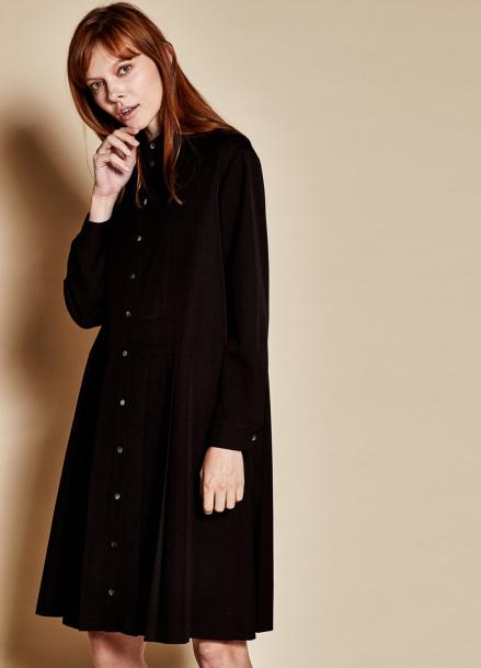 [TheKstory]Long pleats dress_black