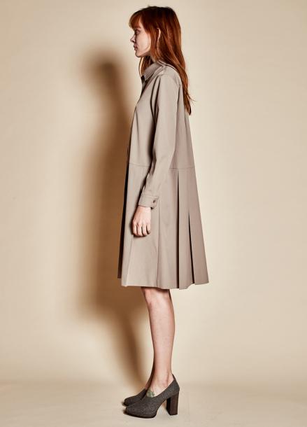 [TheKstory]Long pleats dress_beige
