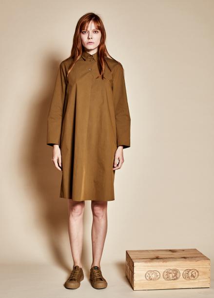 [TheKstory]Three button dress_khaki