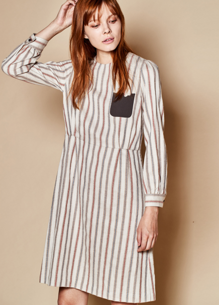 [TheKstory]Stitch dress_beige