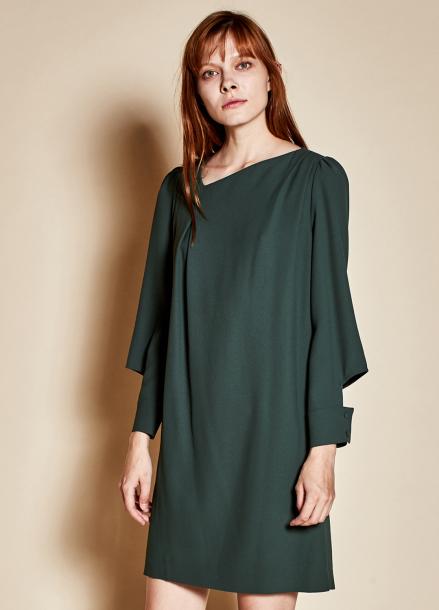 [TheKstory]Open sleeve dress_green