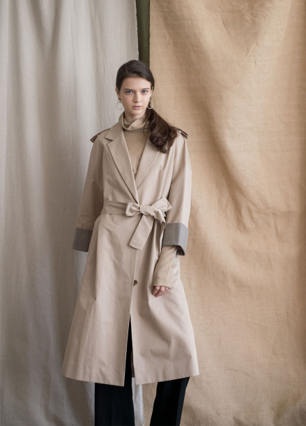 OVER_STRIGHT TRENCH COAT [BE]