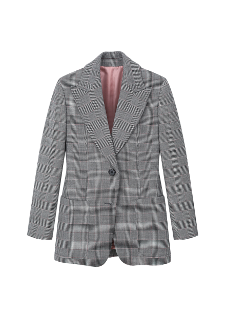 Pattern Single Button Jacket