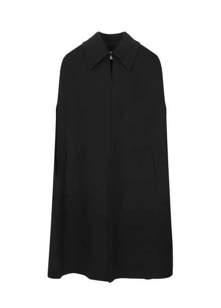 Black Pancho Coat