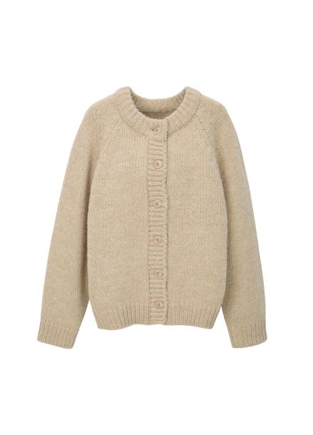 ★ Alpaca Blend Round Neck Cardigan [예약판매/9월 26일 입고예정]