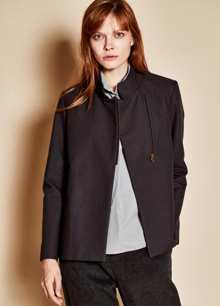 [TheKstory]Standing collar jacket_black