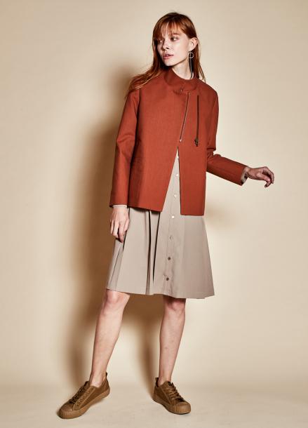 [TheKstory]Standing collar jacket_brown