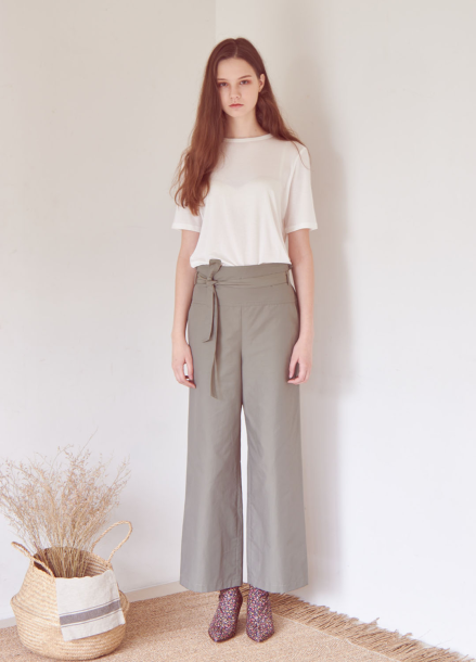 [THEROOM]HIGHWAIST BANDING PANTS[KHAKI]