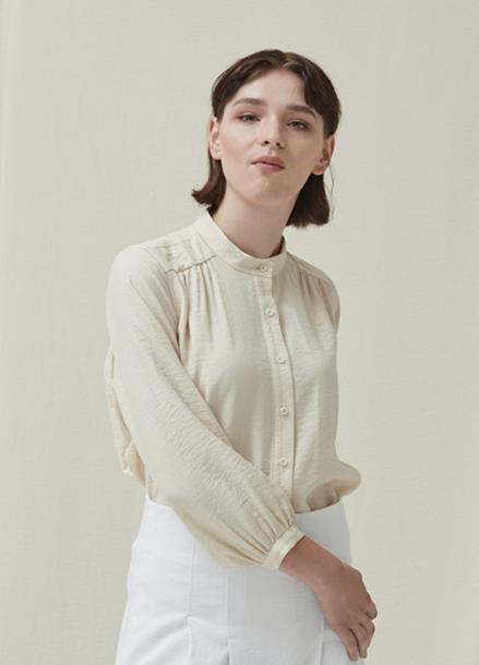 Shirring Blouse_White