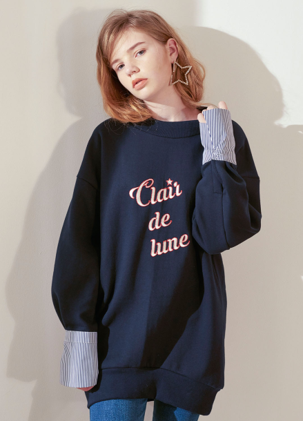 [살롱드욘]Cuffs Long Sweatshirt