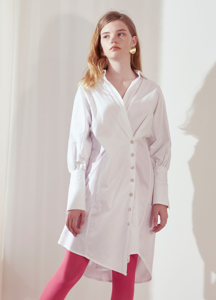 [살롱드욘]Wrap Shirt Dress_White