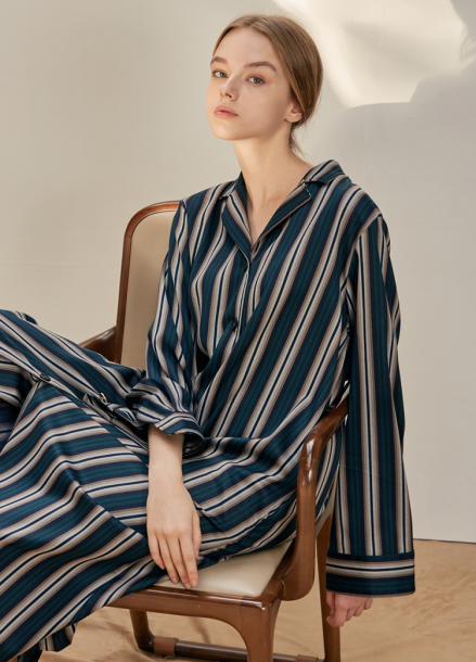 [ANEDIT/17FW/5%+5%COUPON]B STRIPE SHIRTS DRESS_DG