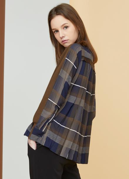 [MILLOGLEM/17FW신상/10%+5%COUPON] pleated sweatshirts - khaki