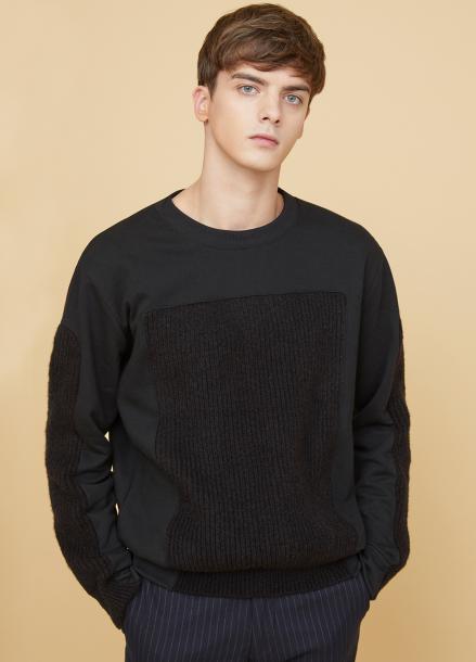 [MILLOGLEM/17FW신상/10%+5%COUPON] voll knit sweatshirts - black