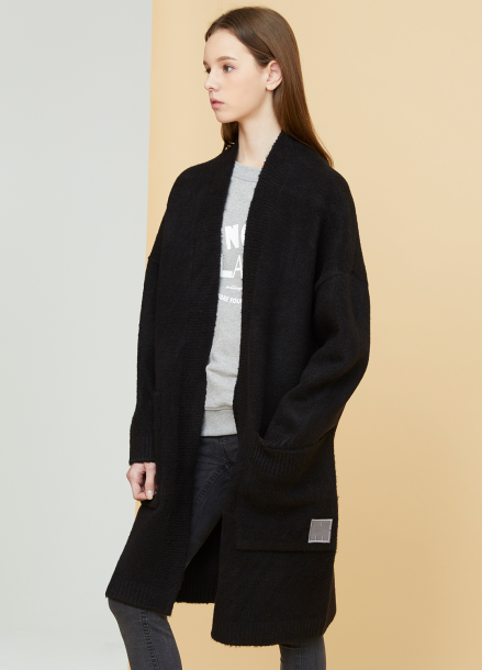 [MILLOGLEM/연말결산세일/40%] snuggle long cardigan - black