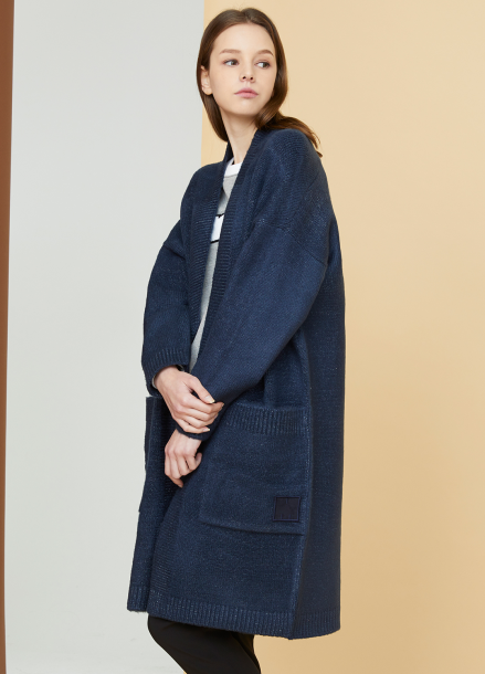 [MILLOGLEM/연말결산세일/40%] snuggle long cardigan - navy
