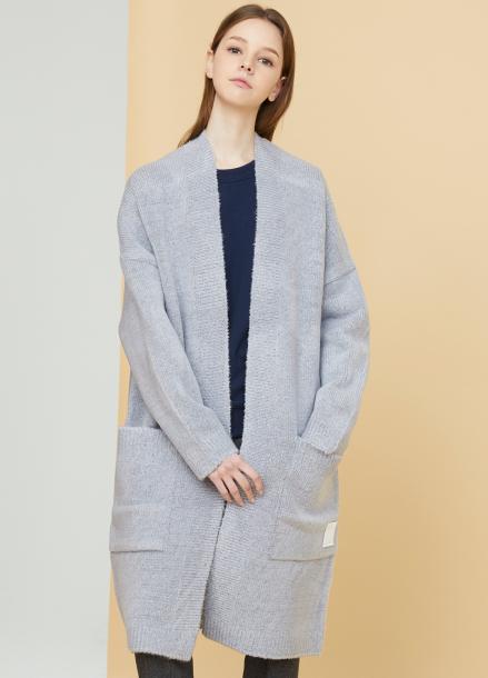 [MILLOGLEM/연말결산세일/40%] snuggle long cardigan - gray