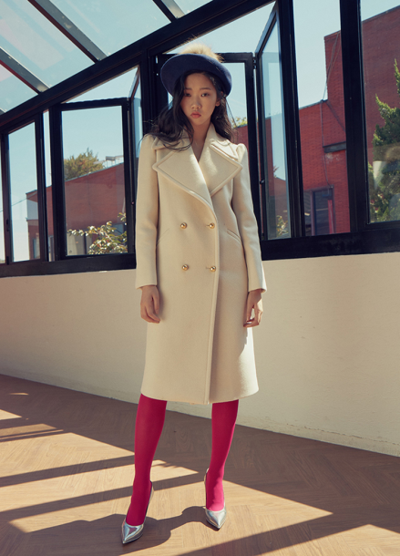 [LAFETE] White Wool Coat