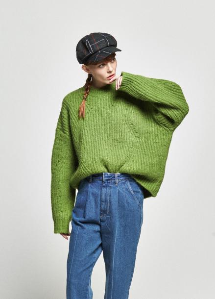 [URAGO/OCTOVER신상/5%+5%COUPON]boxy ribbed round knit