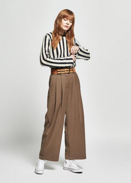 [URAGO/OCTOVER신상/5%+5%COUPON]2 stripe round knit