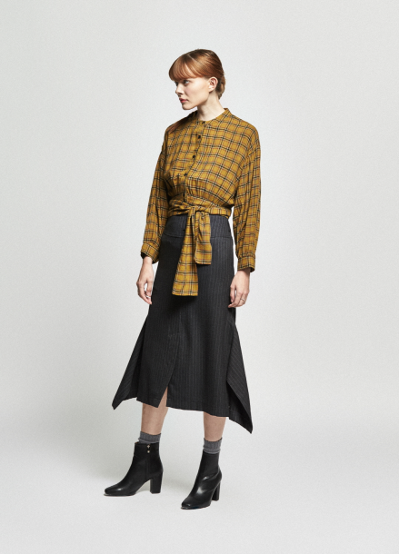 [URAGO/OCTOVER신상/5%+5%COUPON]lap check blouse
