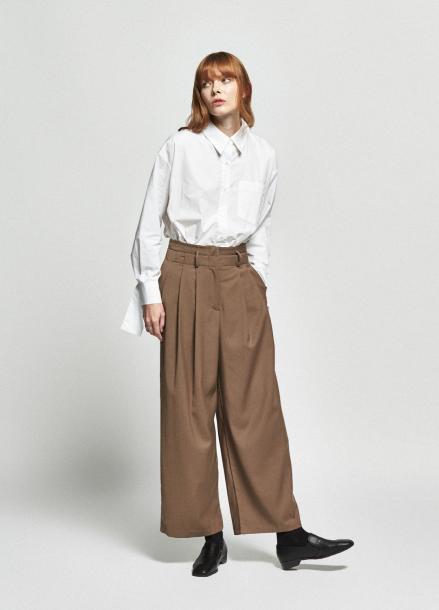 [URAGO/OCTOVER신상/5%+5%COUPON]back button basic shirt