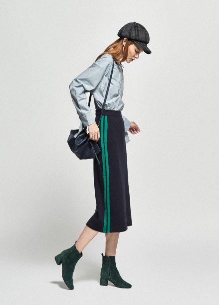 [URAGO/OCTOVER신상/5%+5%COUPON] line ponit knit longskirt