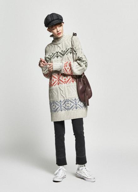 [URAGO/OCTOVER신상/5%+5%COUPON]jacquard over turtleneck knit