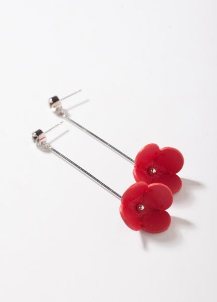 [TATIANA/17FW/10%+5%COUPON]FLOWER STIC DROP EARRING