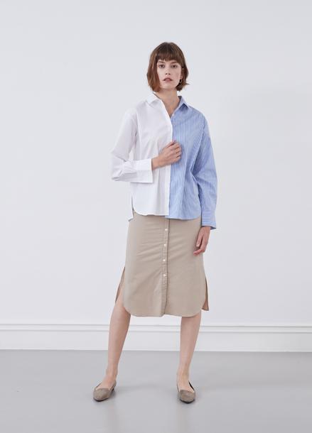 [YouNess] Split Combi Shirt_1