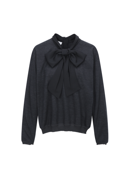 ○Ribbon Kint Blouse