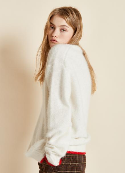[CLUE DE CLARE/17FW시즌오프/10%SALE] oversize angora knit white